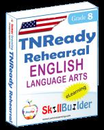 Lumos StepUp SkillBuilder + Test Prep for TNReady: Online Practice Assessments and Workbooks - Grade 8 ELA