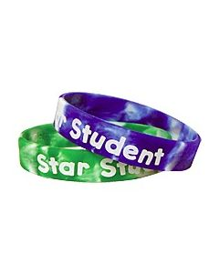 Fancy Star Student Swirl Wristbands