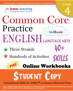 Common Core Practice tedBook ® - Grade 4 ELA, Student Copy