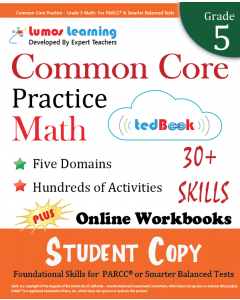 Common Core Practice tedBook® - Grade 5 Math, Student Copy