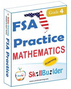 Lumos StepUp SkillBuilder + Test Prep for FSA: Online Practice Assessments and Workbooks - Grade 4 Math