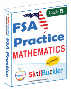 Lumos StepUp SkillBuilder + Test Prep for FSA: Online Practice Assessments and Workbooks - Grade 5 Math