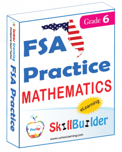 Lumos StepUp SkillBuilder + Test Prep for FSA: Online Practice Assessments and Workbooks - Grade 6 Math