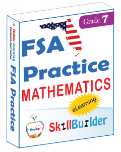 Lumos StepUp SkillBuilder + Test Prep for FSA: Online Practice Assessments and Workbooks - Grade 7 Math