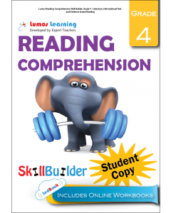 Lumos Reading Comprehension Skill Builder, Grade 4 - Literature, Informational Text and Evidence-based Reading, Student Copy