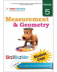 Lumos Measurement, Representation, Interpretation and Geometry Skill Builder, Grade 5 - Cubic Units and Coordinate Geometry, Student Copy