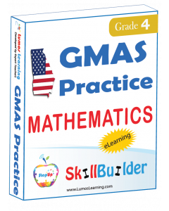Lumos StepUp SkillBuilder + Test Prep for GMAS: Online Practice Assessments and Workbooks - Grade 4 Math