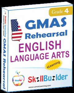 Lumos StepUp SkillBuilder + Test Prep for GMAS: Online Practice Assessments and Workbooks - Grade 4 ELA
