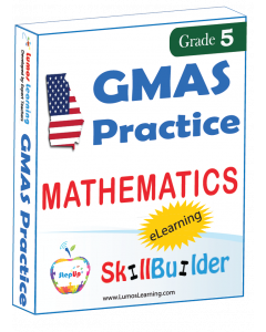 Lumos StepUp SkillBuilder + Test Prep for GMAS: Online Practice Assessments and Workbooks - Grade 5 Math