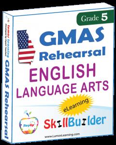 Lumos StepUp SkillBuilder + Test Prep for GMAS: Online Practice Assessments and Workbooks - Grade 5 ELA