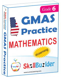 Lumos StepUp SkillBuilder + Test Prep for GMAS: Online Practice Assessments and Workbooks - Grade 6 Math