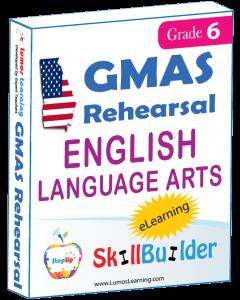 Lumos StepUp SkillBuilder + Test Prep for GMAS: Online Practice Assessments and Workbooks - Grade 6 ELA