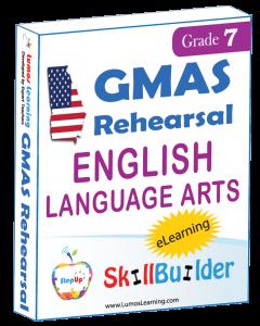 Lumos StepUp SkillBuilder + Test Prep for GMAS: Online Practice Assessments and Workbooks - Grade 7 ELA