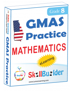 Lumos StepUp SkillBuilder + Test Prep for GMAS: Online Practice Assessments and Workbooks - Grade 8 Math