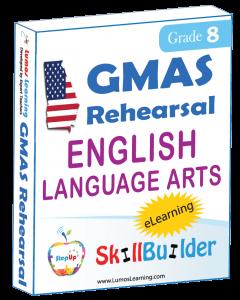 Lumos StepUp SkillBuilder + Test Prep for GMAS: Online Practice Assessments and Workbooks - Grade 8 ELA