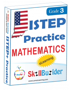 Lumos StepUp SkillBuilder + Test Prep for ISTEP+: Online Practice Assessments and Workbooks - Grade 3 Math