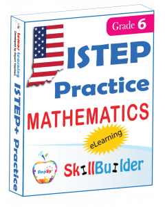 Lumos StepUp SkillBuilder + Test Prep for ISTEP+: Online Practice Assessments and Workbooks - Grade 6 Math