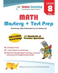 Grade 8 Math  Mastery and Test Prep : Entertaining videos and eLearning Disc 1