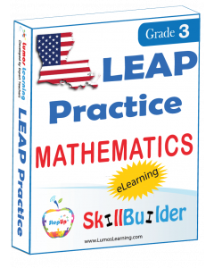 Lumos StepUp SkillBuilder + Test Prep for LEAP: Online Practice Assessments and Workbooks - Grade 3 Math