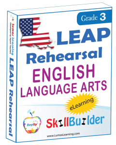 Lumos StepUp SkillBuilder + Test Prep for LEAP: Online Practice Assessments and Workbooks - Grade 3 ELA