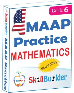 Lumos StepUp SkillBuilder + Test Prep for MAAP: Online Practice Assessments and Workbooks - Grade 6 Math