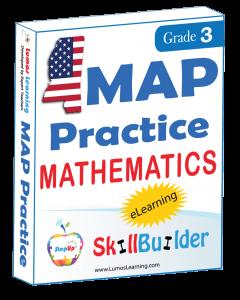 Lumos StepUp SkillBuilder + Test Prep for MAP: Online Practice Assessments and Workbooks - Grade 3 Math