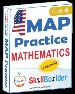 Lumos StepUp SkillBuilder + Test Prep for MAP: Online Practice Assessments and Workbooks - Grade 4 Math