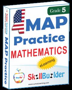 Lumos StepUp SkillBuilder + Test Prep for MAP: Online Practice Assessments and Workbooks - Grade 5 Math