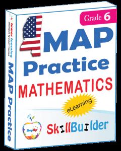 Lumos StepUp SkillBuilder + Test Prep for MAP: Online Practice Assessments and Workbooks - Grade 6 Math