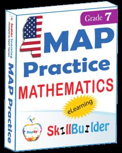 Lumos StepUp SkillBuilder + Test Prep for MAP: Online Practice Assessments and Workbooks - Grade 7 Math