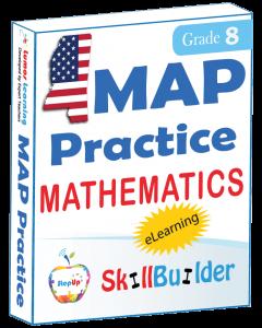 Lumos StepUp SkillBuilder + Test Prep for MAP: Online Practice Assessments and Workbooks - Grade 8 Math