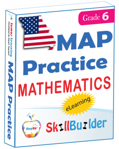 Lumos StepUp SkillBuilder + Test Prep for MAP: Online Practice Assessments and Workbooks - Grade 6 Math