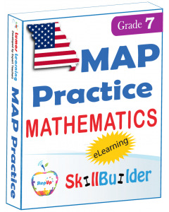 Lumos StepUp SkillBuilder + Test Prep for MAP: Online Practice Assessments and Workbooks - Grade 7 Math
