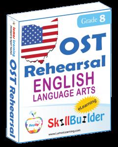 Lumos StepUp SkillBuilder + Test Prep for OST: Online Practice Assessments and Workbooks - Grade 8 ELA