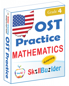 Lumos StepUp SkillBuilder + Test Prep for OST: Online Practice Assessments and Workbooks - Grade 4 Math