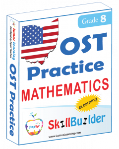 Lumos StepUp SkillBuilder + Test Prep for OST: Online Practice Assessments and Workbooks - Grade 8 Math