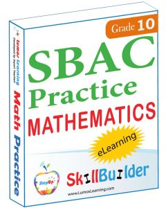 Lumos StepUp SkillBuilder + Test Prep for SBAC: Online Practice Assessments and Workbooks - Grade 10 Math