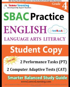 SBAC Practice tedBook® - Grade 4 ELA, Student Copy