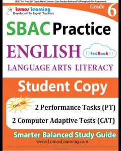 SBAC Practice tedBook® - Grade 6 ELA, Student Copy