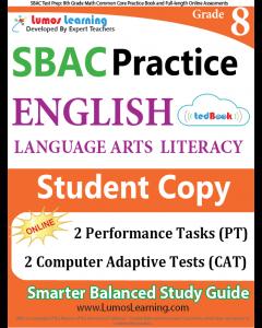 SBAC Practice tedBook® - Grade 8 ELA, Student Copy