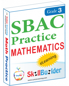 Lumos StepUp SkillBuilder + Test Prep for SBAC: Online Practice Assessments and Workbooks - Grade 3 Math