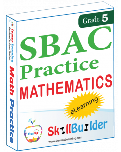 Lumos StepUp SkillBuilder + Test Prep for SBAC: Online Practice Assessments and Workbooks - Grade 5 Math