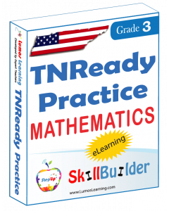 Lumos StepUp SkillBuilder + Test Prep for TNReady: Online Practice Assessments and Workbooks - Grade 3 Math