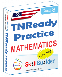 Lumos SkillBuilder + Test Prep for TNReady: Online Practice Assessments and Workbooks - Grade 8 Math