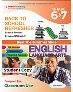 Back to School Refresher tedBook - Grade 6>7 ELA, Student Copy