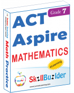 Lumos StepUp SkillBuilder + Test Prep for ACT Aspire: Online Practice Assessments and Workbooks - Grade 7 Math