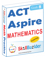 Lumos StepUp SkillBuilder + Test Prep for ACT Aspire: Online Practice Assessments and Workbooks - Grade 8 Math