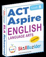 Lumos StepUp SkillBuilder + Test Prep for ACT Aspire: Online Practice Assessments and Workbooks - Grade 8 ELA