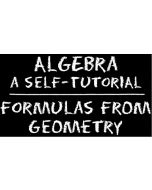 Algebra – Formulas from Geometry
