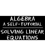 Algebra – Solving Linear Equations